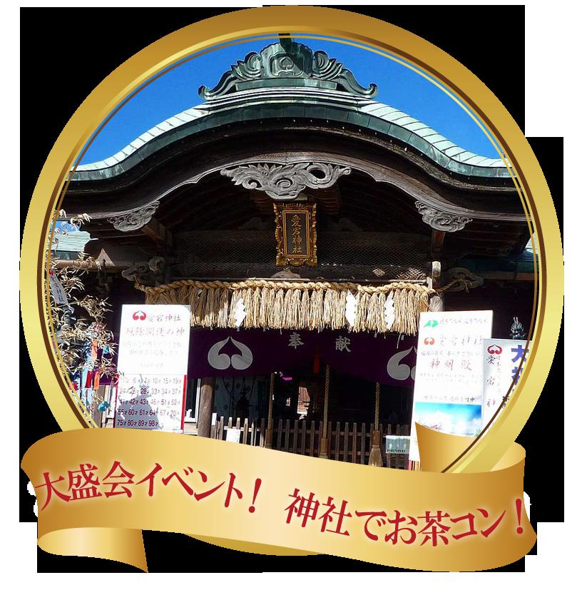 大人気婚活イベント、愛宕神社でお茶コン